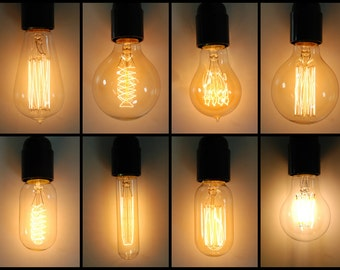 Vintage Industrial Style Filament Edison Light Bulb | E27 es Screw Lamp | 40w | Great with fabric cable
