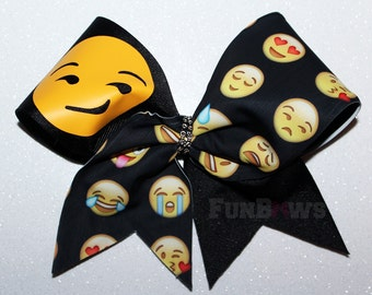 Awesome Emoji Allstar cheer hairbow by FunBows !