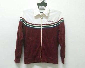 Vintage Jantzen sweater jacket cross stripe medium size M