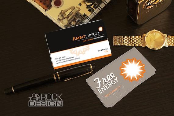 Custom ambit energy business cards digital file or printing colourmoves