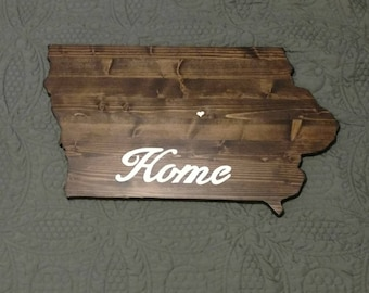 Iowa or Any State Wall Hanging (FREE Shipping!)