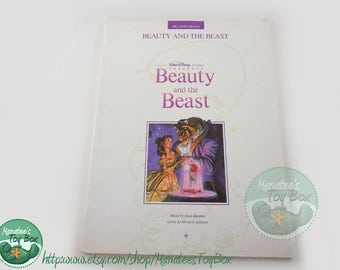 Disney's Beauty and the Beast Piano and Vocal Book Music Paperback Vintage 90s