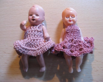For the dollhouse: A miniature twin doll ... 50's!
