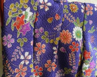 Mini Kimono - Purple / Blue
