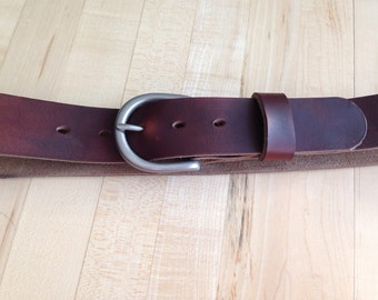 Handmade Tan Horween Chromexcel leather work belt