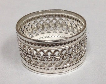 Sterling Silver Lace Ring Style 2