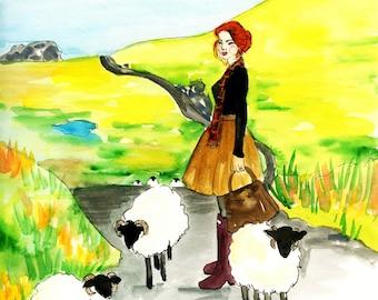 Ireland Dream Fashion Illustration Print