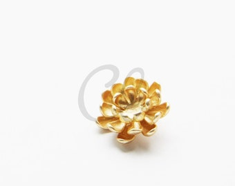 One Piece Premium Matte Gold Plated Brass Base Charms-Flower 17mm (1171C-U-193)