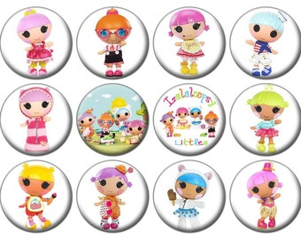 "1"" - LALALOOPSIES LITTLES - Lot of 12 -  Pin Back Button Badge"