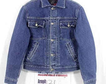 BiG SaLe Vintage 90s polo ralph lauren Denim Jacket Size Small S / stadium p / wing bear ski / beach snow / k swiss 1992 / spellout usa / fl zRFjr5ruN