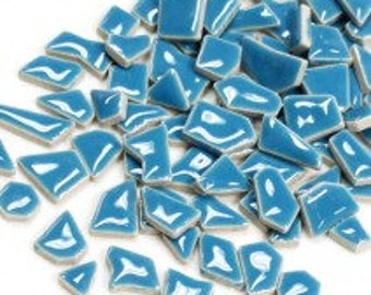 Jigsaw Mosaic Tiles - Thalo Blue - 100g (3.5 oz)
