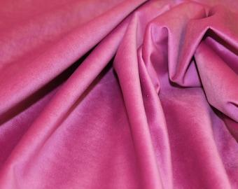 Hot Pink Velvet Fabric