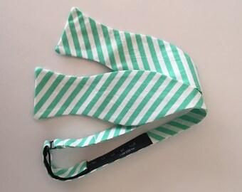 Men and Teen's Spearmint Mint Stripe Bow Tie