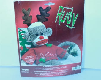 "Janlynn 21"" Sock Monkey kit 0465-66 Rudy I Believe New Sealed 2003 Made in the USA!"