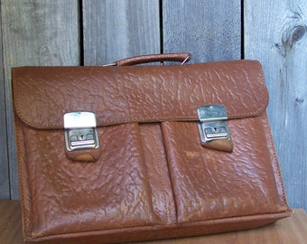 Vintage Softshell Leather Briefcase