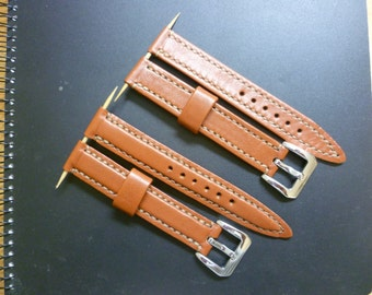 Watch strap, Kangaroo leather, Color: light brown