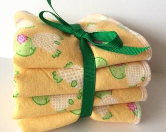 Baby Wash Cloth Set - Children's Wash Cloths - Baby Bath Set - Baby Girl Gift - Baby Boy Gift - Wash Rags For Kids - Luxury Wash Cloth