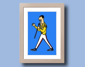 Freddie Mercury - Illustration - print on photo paper - photographic print artwork