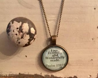 Psalm 139:14 - Scripture Necklace