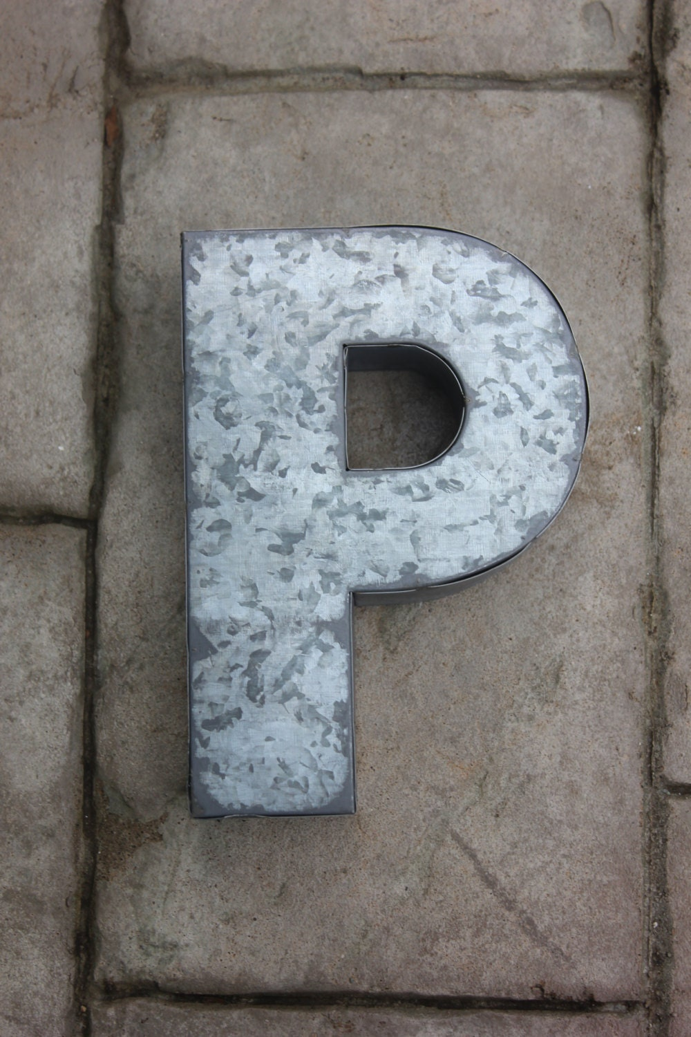 Galvanized Letter H Sale Large Metal Letter Zinc Steel Initial Home Room Decor Diy