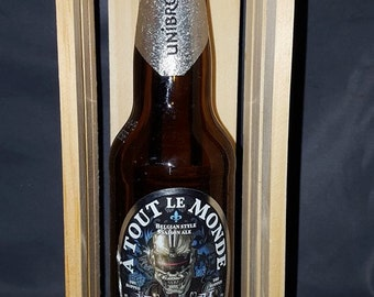 MEGADETH A Tout Le Monde BEER BOTTLE in Homemade Crate