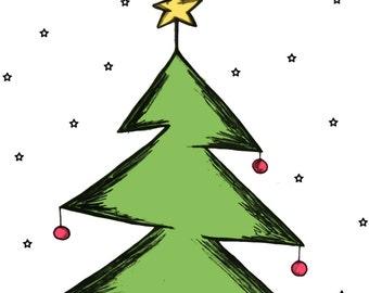JPEG, JPG christmas tree digital clipart, pattern christmas