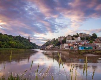 Avon gorge and Clifton Suspension Bridge, Bristol print, photographic print, home wall print, landscape photo print