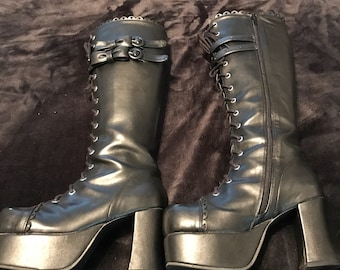 Lolita Bow Boots Women's Size 6