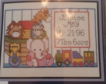 Vintage Counted Cross Stitch Noahs' Ark Kit