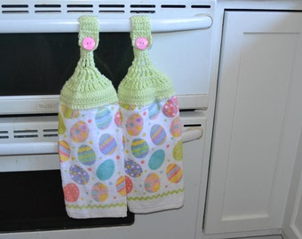 Handmade Valentines Day, Easter, and Springtime Towels