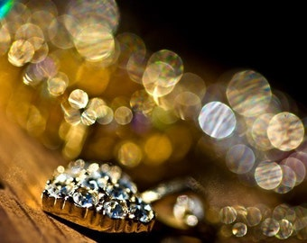 Abstract Photography romantic macro new years eve holiday wall art Gold golden citrine mustard circles geometry geometric black sparkles art