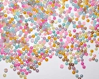 10000 PC Mixed rainbow Mini Tiny Flatback Resin Half Round Acrylic Imitation Pearls bead pearl  Cab Nail Art MR040718 1.5mm 2mm 2.5mm 3mm