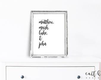 Christian Girl Wall Art - Printable | Digital Download | Gospels | Christian Print