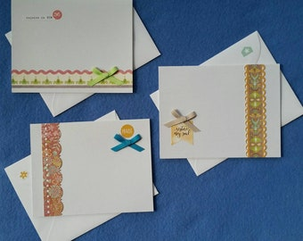 Rejoice in Him, Restore my soul, and Praise Blank Cards, handmade card set, religious cards with bows