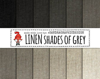 """Linen digital paper: """"GREY LINEN PAPER"""", linen textures, linen backgrounds in 12 shades of grey (1111)"""