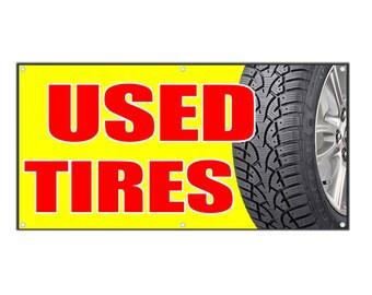 Used Tires Vinyl Banner