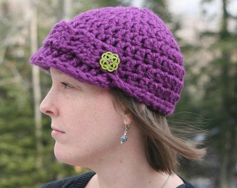 Instant PDF File For Easy 40 minute Pattern for Crochet Newsboy Hat for Women