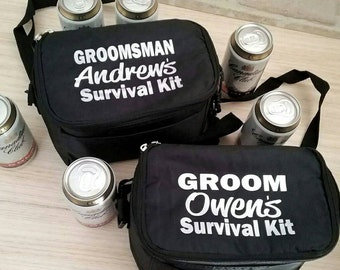 Personalised Cooler Bag; Groomsmen gift; Groom Survival Bag; Beer cooler bag; Groomsmen Cooler bag; Groom cooler bag; Groom gift;