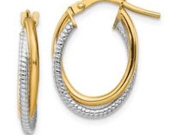 14k Hoop Earrings Choose Your Style