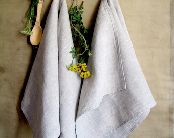 Linen towels set Hand towels Kitchen towels Gray linen towel Rustic tea towels Face towel Linen tea towel Dish towels flax Natural towels