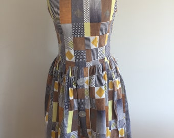 Original vintage 1950s/1960s Retro checquered Dress