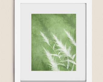 Spring Green Nature Wall Art Print, Home Decor For Bedroom or Living Room, Wheat Grass Art 11 x 14 Print  (134)