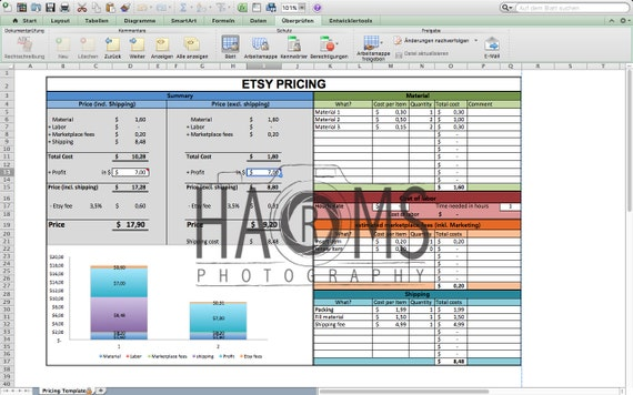 Pricing Template Excel Spreadsheet To Calculate Your Price