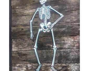 Vintage Paper Skeletons Halloween Decoration