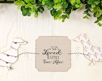 Dachshund Wedding Happily Ever After Handmade Paper Garland