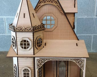 Half Inch Scale, Pandora, The Gothic Revival Victorian Cottage, 1:24 Scale, SHIPS WORLDWIDE
