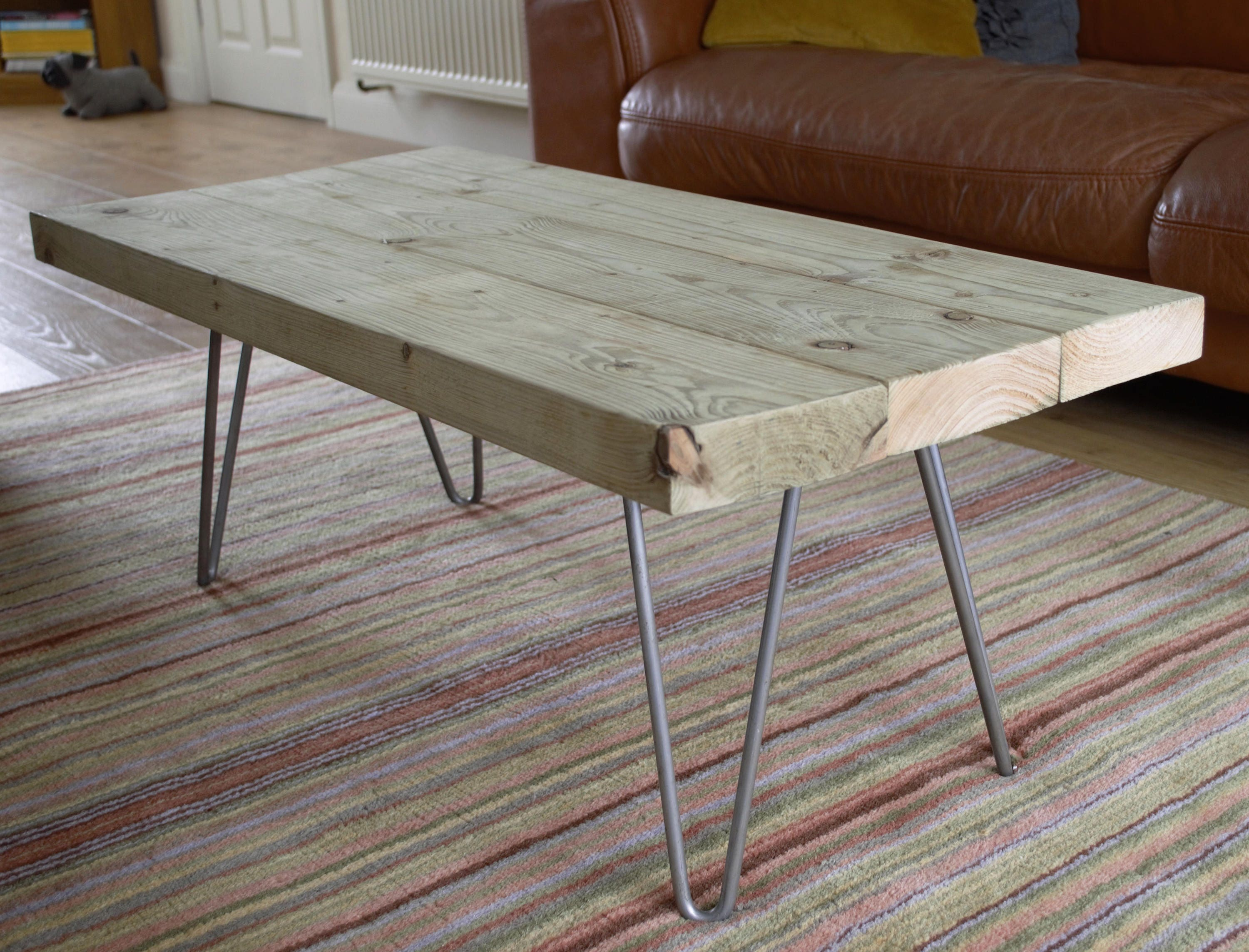 Industrial Coffee Table Hairpin Legs Reclaimed Coffee