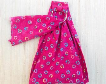 Doll Ring Sling - Doll Toy Carrier - Waldorf Toy - Baby Doll Wrap - Ring Sling - Toy Doll Sling - Child Ring Sling - Doll Sling - Pink Batik