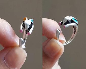 Bunny Ring, Rabbit Ring , Custom Colored Animal Wrap ring, Birthday Gift