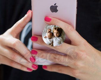 Your Custom Photo PoshSocket | Upgrade Decal Cover or Pop Socket Available | Pop Phone grip  Sticker